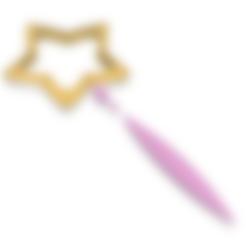 DAOKO Star Dowel.stl Télécharger fichier STL Baguette DAOKO Girl Star • Design à imprimer en 3D, httpkoopa