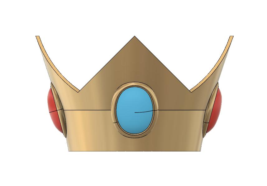 Peach Crown 2.PNG Download STL file Princess Peach Crown • 3D print design, httpkoopa