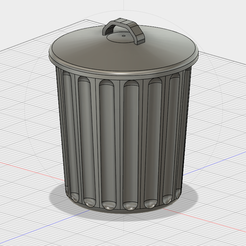 Free STL file Free Desktop Trash Can with Lid, httpkoopa