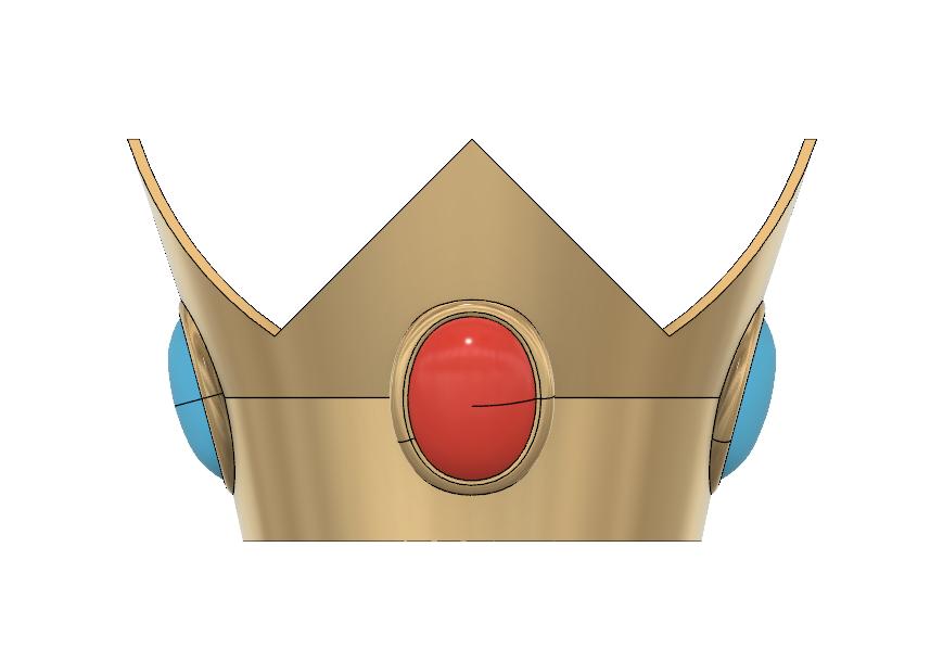 Peach Crown 1.PNG Download STL file Princess Peach Crown • 3D print design, httpkoopa