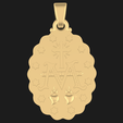 Download 3D printer files VIRGIN MARY PENDANT, littleamy09