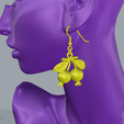 Descargar modelos 3D para imprimir PENDIENTES DE GRANADA, littleamy09