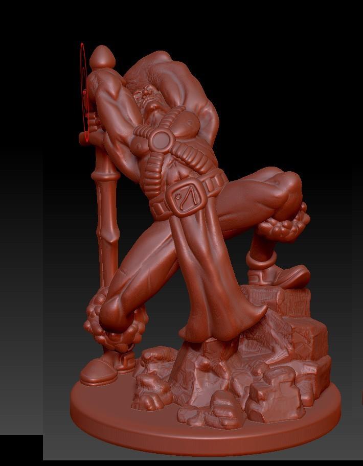 front.jpg Descargar archivo STL Bárbaro humano • Diseño para impresión en 3D, Windwreath
