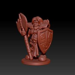 Download 3D printing files Female Dwarf, Windwreath