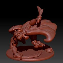 io_fromZbrush_3Quarter_v01.JPG Télécharger fichier STL Tabaxi Rogue • Plan à imprimer en 3D, Windwreath