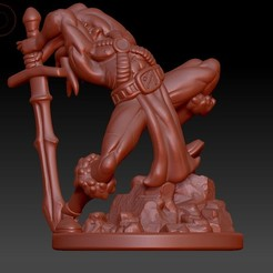 3D printing model Human Barbarian, Windwreath