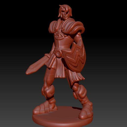 Descargar archivo STL Paladín humano • Plan para la impresión en 3D, Windwreath