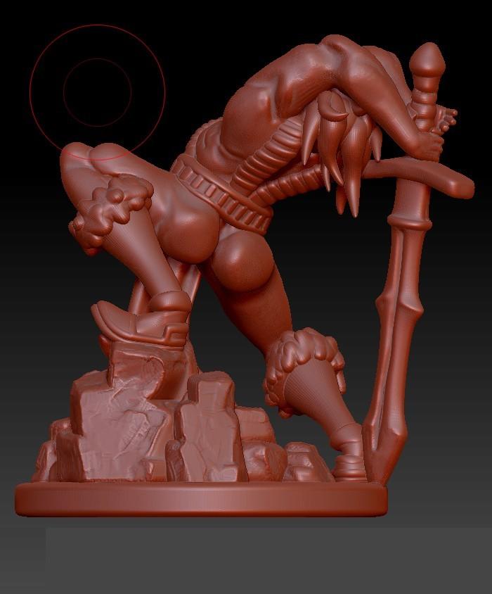 back.jpg Descargar archivo STL Bárbaro humano • Diseño para impresión en 3D, Windwreath