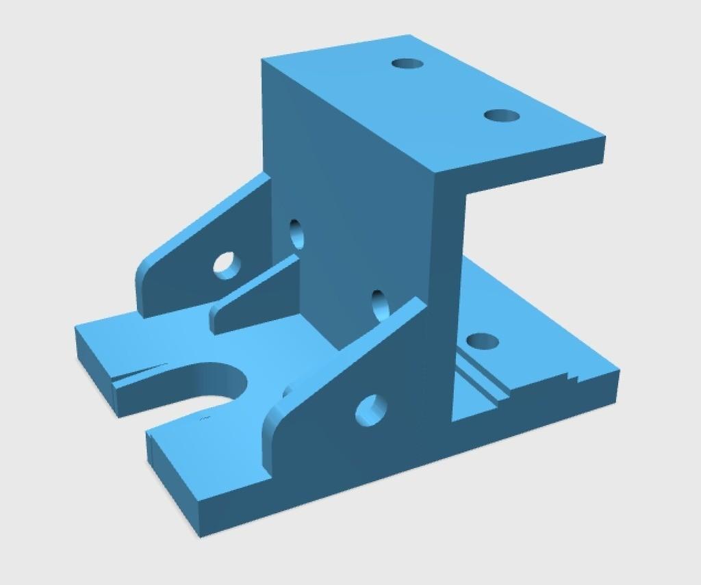 e41f2bf4f575db1d555f7c6ed8b243ac_display_large.jpg Download free STL file E3D V6/Bowden Extruder Bracket for RepRap • 3D printer design, arron_mollet22