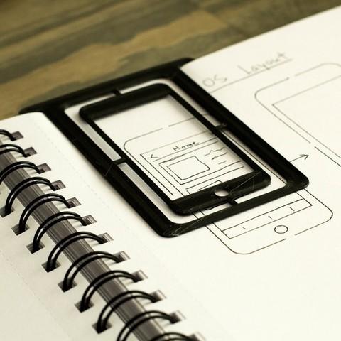 Free 3D printer files iOS Design Stencil/Bookmark, arron_mollet22
