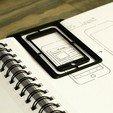 Télécharger plan imprimante 3D gatuit Pochoir et signet iOS Design, arron_mollet22