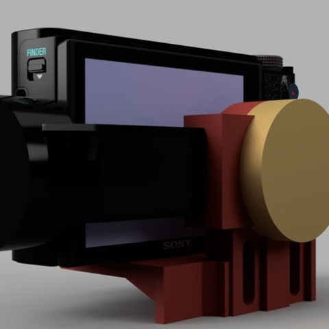 4967ceef1f19aa7da7f42d54588ca984_display_large.jpg Télécharger fichier STL gratuit Cardan Q lisse - Fixation pour caméra (Sony RX100 et autres) • Modèle pour imprimante 3D, arron_mollet22