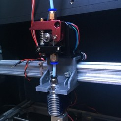Download free 3D printing models E3D V6/Bowden Extruder Bracket for RepRap, arron_mollet22