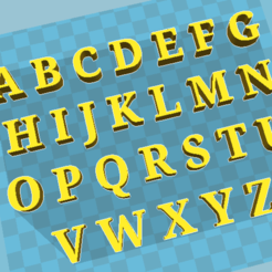 Download free STL files ALPHABET, jhonatanmujicag