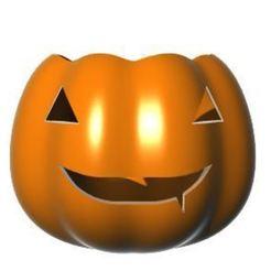 Download 3D printer templates Halloween League of Legends Inspired Pumpkin + Bowl #2, Laramaine