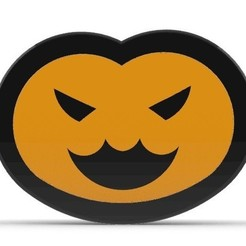 Download free 3D printer designs Mei Halloween Pumpkin Pendant/Keychain, Laramaine