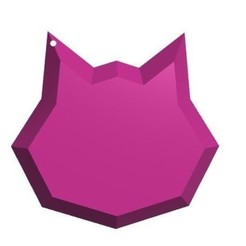 Download STL file D.Va Inspired Cat Keychain, Laramaine