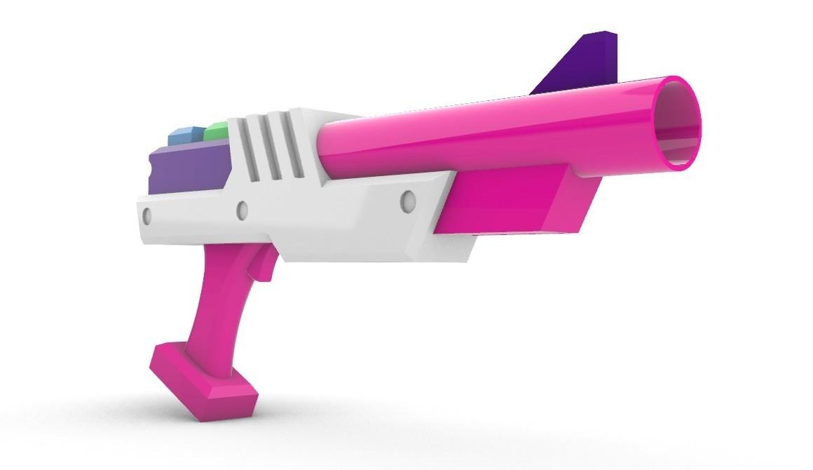 ArcadeMFGunColor3.jpg Download STL file Arcade Miss Fortune Gun • 3D printer model, Laramaine