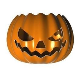 Download STL file Halloween Overwatch Inspired Pumpkin + Bowl, Laramaine