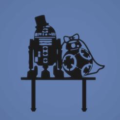 20643d52dc613244c11338de68b999c7.png Download STL file TOPPER Star Wars, R2D2 and BB8 • 3D printer design, FARRUQUITO