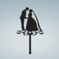 MOVIOS 1.png Download STL file TOPPER BRIDE AND GROOM 1 • 3D printable design, FARRUQUITO