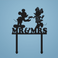 139337b34acf1ddae217f6d99369e80c.png Download STL file Disney's wedding cake topper, minnie and mickey mouse Mr. and Mrs. • Model to 3D print, FARRUQUITO