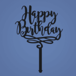 1651651651651.png Download STL file TOPPER HAPPY BIRTHDAY • 3D printable model, FARRUQUITO