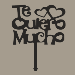 08be5153c416a5bddb250f8f1e3ea076.png Download STL file TOPPER I LOVE YOU VERY MUCH • 3D printing object, FARRUQUITO