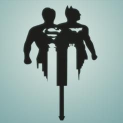 7ef79bf0def0952fa51d37b74cf9919d.png Download STL file TOPPER SUPERMAN AND BATMAN • 3D print object, FARRUQUITO