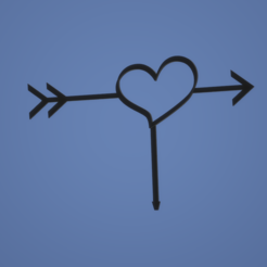 CORAZON.png Download STL file HEART TOPPER • 3D printable object, FARRUQUITO