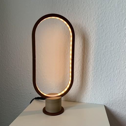 Download free 3D printer model Oval Lamp, armybean