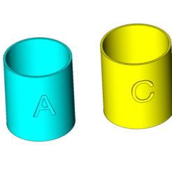Télécharger fichier 3D Mesure en 2 parties pour aquariums récifaux, RickNC