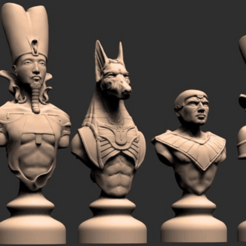 Alex.png Download free STL file EGYPTIAN CHESS • 3D print object, alondono862