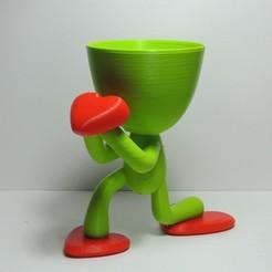 Télécharger objet 3D Pot de fleurs pour la Saint-Valentin, estebanmeurat
