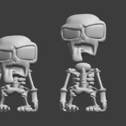 Zombies Infection - Esqueleto .png Download STL file Jaime Bones Skeleton - Zombie Infection • 3D printing template, estebanmeurat