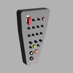 Télécharger STL BOÎTE À BOUTONS PORSCHE 911 RSR, Simracing_design