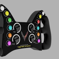 Download STL file CORVETTE C8R 2020 RACE CAR • 3D printer design, Simracing_design