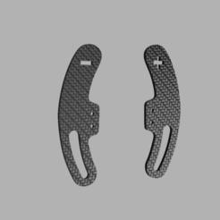 model E.png Download STL file PADDLE MODEL E • 3D printable design, Simracing_design