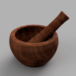 Free 3D model Mortar & pestle, Odrivous