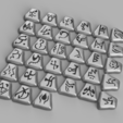 runes1.png Download STL file Diablo II runes | Single or Dual extrusion & magnet ready • 3D print object, Odrivous