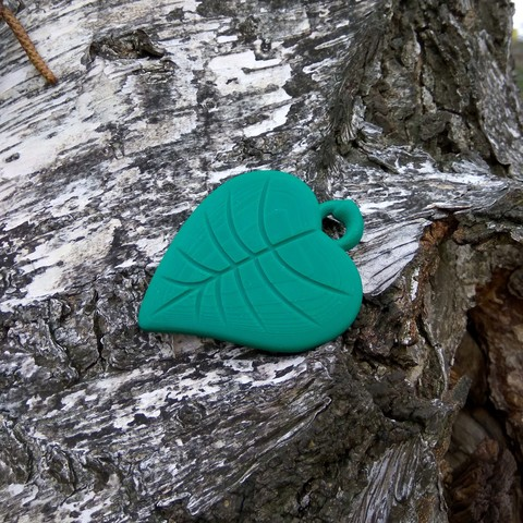 Free 3D printer model Leaf Pendant, Odrivous