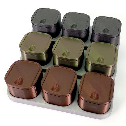 Diseños 3D gratis Caja de fondo redondeado con tapa, Odrivous