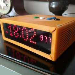 Download free 3D print files Arduino-powered alarm clock, pienjo