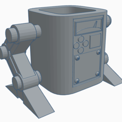 STL files Robot Style Pencil Holder, ArturoA