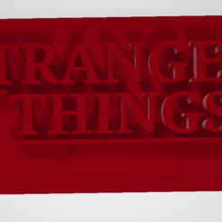 Free 3D printer designs STRANGERS THINGS logo, FANTOMAS