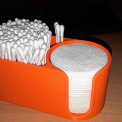 Modelos 3D Vidrio para bastoncillos y discos de algodón, Andrewkuk