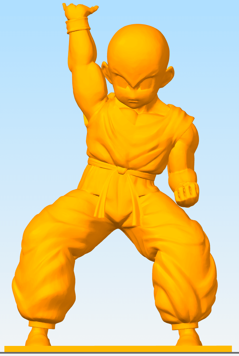 Krillin Cults.png Download free OBJ file DBZ Hi-Res Krillin with base • 3D printing template, JeenyusPete