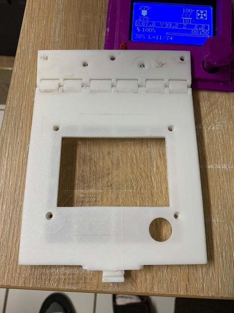 E810733D-E30E-426C-B643-229BDA5F8E4E.jpeg Download free STL file Hinged, Hooked, CR 10(S) LCD screen mount. • 3D printable model, JeenyusPete