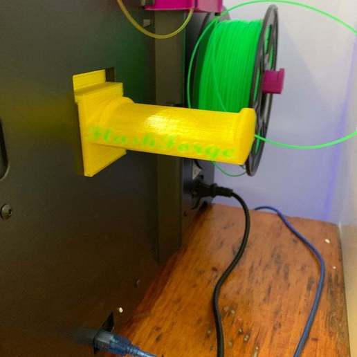 Download free 3D printing templates Dual Extrusion Spool Holder FlashForge Creator Pro Wide And Thin Style, JeenyusPete