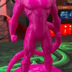 Freeza.jpg Download free STL file Freeza With Base Plate • Template to 3D print, JeenyusPete